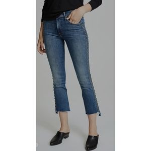 NWT Mother insider crop step Fray Jeans